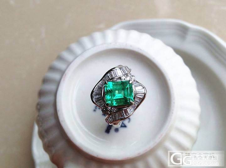 【P.Z 珠宝】 顶级祖母绿2.25克拉 天然无油出火彩 PT900戒托 1克拉钻_宝石