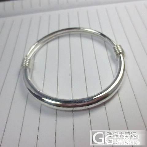 7元一克转一个全新抽拉圆棍纯银手镯*要的速来_珠宝