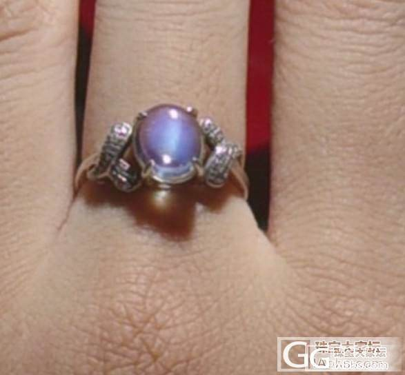 转一个玻璃体的月光石戒指 已出_宝石
