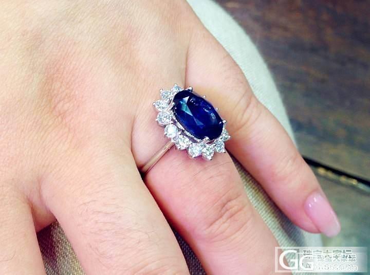 【P.Z 珠宝】 收藏级别顶级蓝宝石 7.21克拉 钻石1.41克拉 皇妃款_宝石