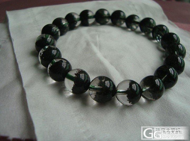 绿幽灵聚宝盆手链,成色如何?_幽灵晶