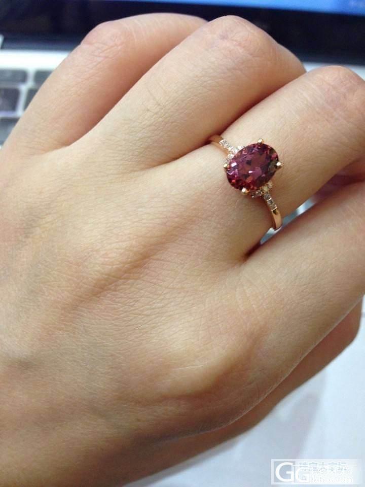 亏本出一套电视购物的玫瑰金镶嵌的天然玫红碧玺。_宝石
