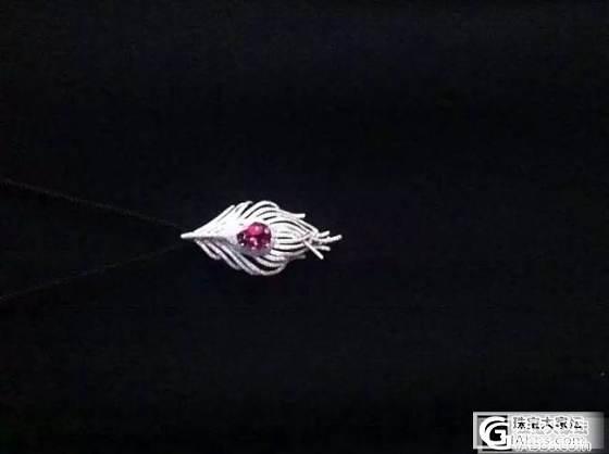 【皇家蓝彩宝】#超级买家秀#很多人要看的羽毛吊坠_上海皇家蓝彩宝