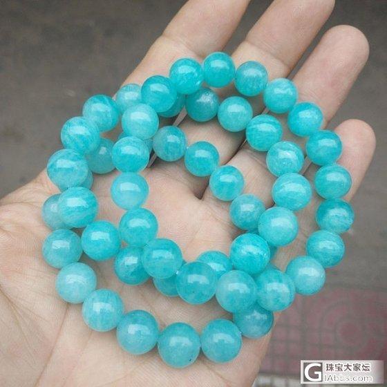 收藏5A级 纯天然冰种天河石手链 色泽美 晶体润 天河石女款手链_有机宝石