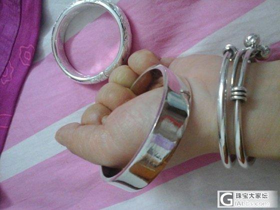 大钢圈银镯加其他_手镯银