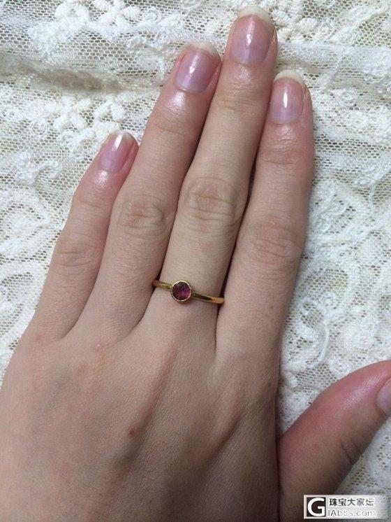 李师傅出品的2个碧玺小戒指哦(已经出掉了哦 谢谢大家)