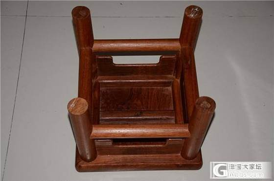 缅甸花梨富贵凳 用料很大_文玩