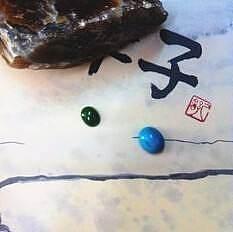 【简装诗意】特特价湖北松石戒面100元~_传统玉石