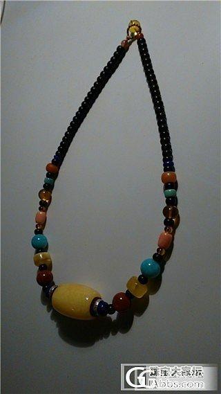 今儿晒个大桶子锁骨链,一定要够花~~~~_珊瑚项链天河石松石南红蜜蜡
