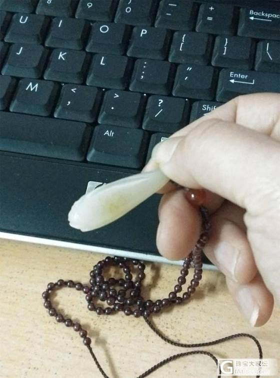 我的和田籽料玉兰花雕件_和田玉
