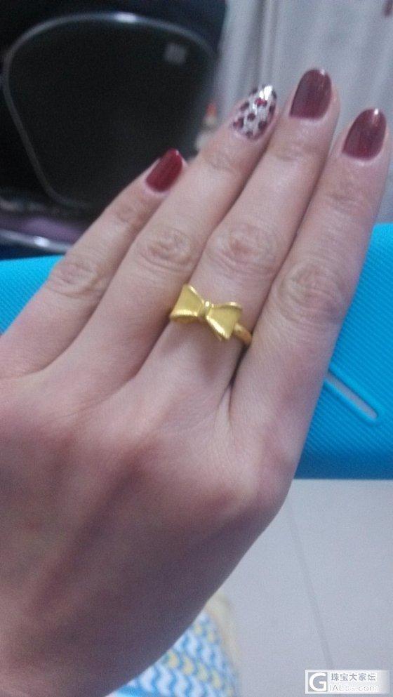 蝴蝶结戒指一枚_戒指金