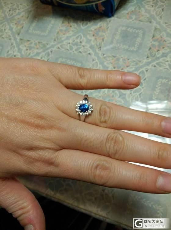 从斯里兰卡带回来的蓝宝石戒指_蓝宝石