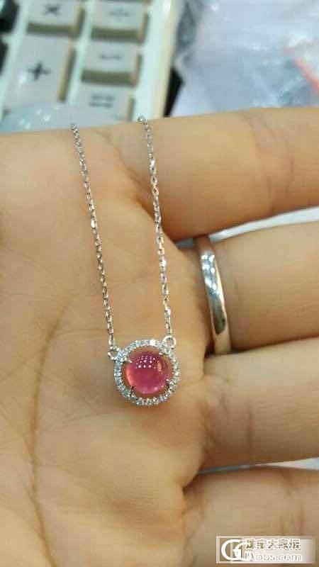 粉红素面小尖晶锁骨链_尖晶石刻面宝石