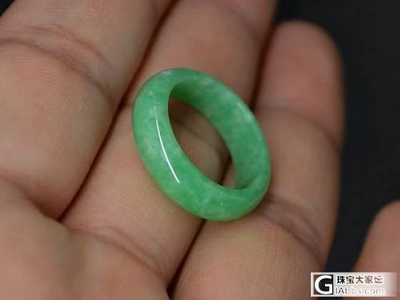 创汇时期旧翡翠【苹果绿指环】满翠满绿 小骆驼文玩_翡翠