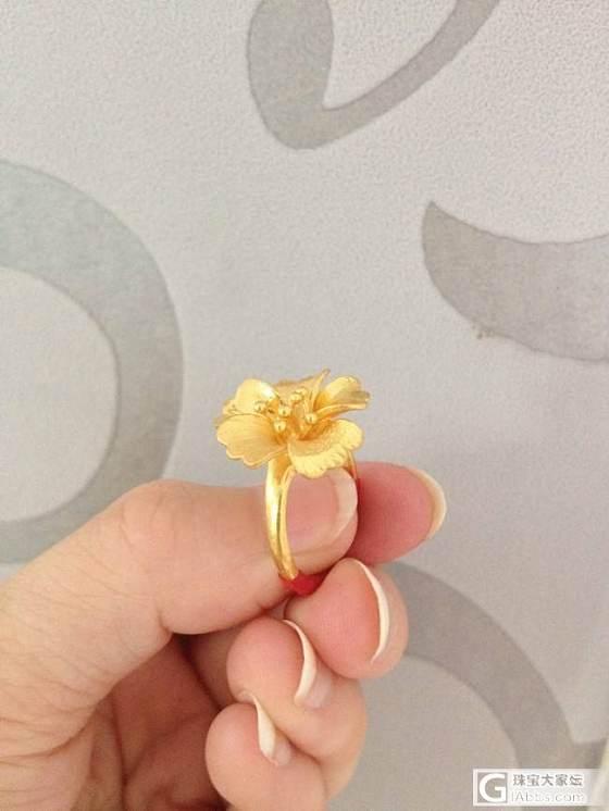 周六福的花花戒指,老公给买哒~_戒指金
