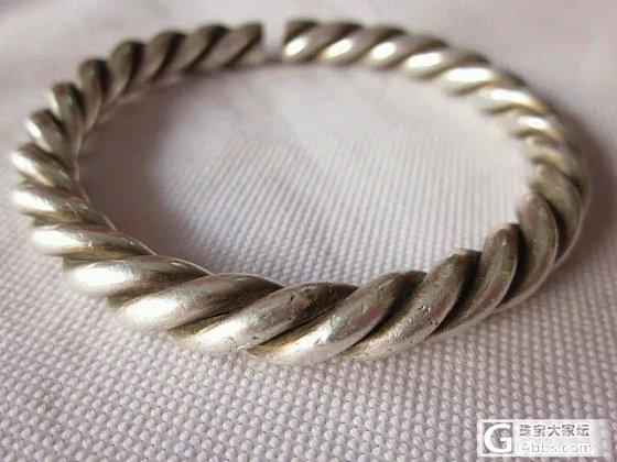 老银绞丝_手镯老银