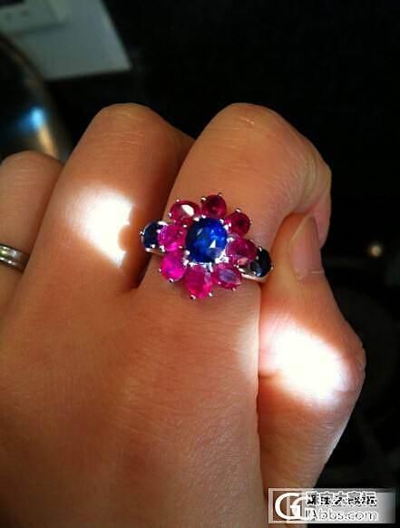 满黄蜡大蛋面 红皮白蜜牌子 布布家的红蓝宝戒指 联合满肉樱桃OR柿子红手串可拆卖_珠宝