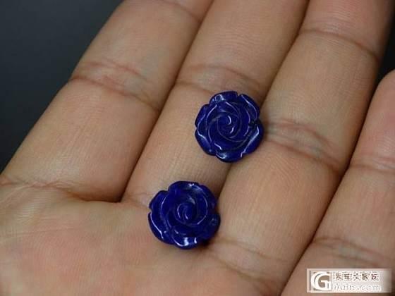 【青金石玫瑰花小一对】老矿料DIY设计镶嵌件小骆驼文玩_宝石