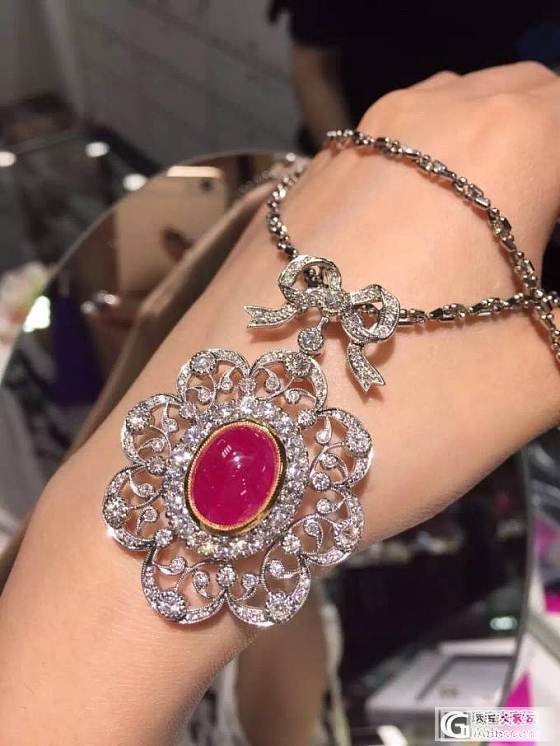 朋友日本中古店淘到的缅甸红宝项链~复古华丽~太特别了_红宝石