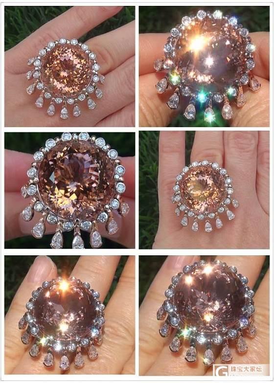 网上发现有GIA鉴定的超大摩根 来分享下_摩根石刻面宝石