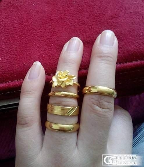秀一下自己仅有的几件金饰哈。。。_吊坠手链项链耳钉戒指金