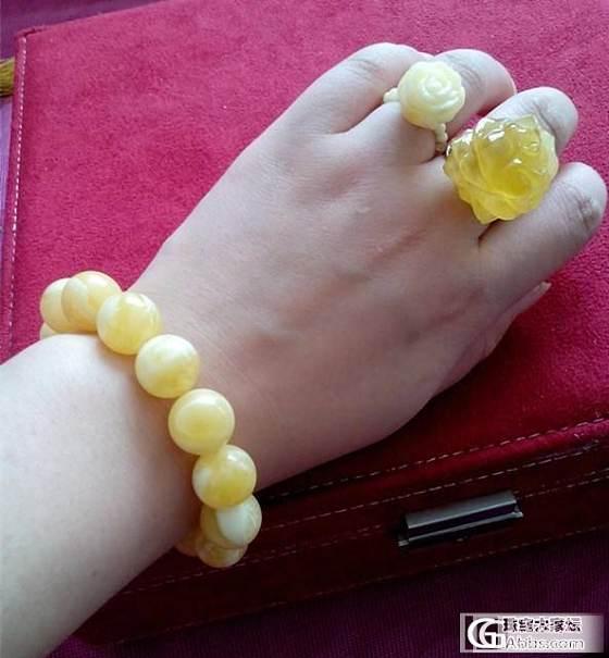 晒新入蜜蜡玫瑰戒指和仅有的三件蜜蜡心头好。。。_有机宝石蜜蜡