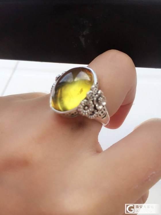 互闪 出几个自磨蜜蜡戒指 纯手工哦_有机宝石