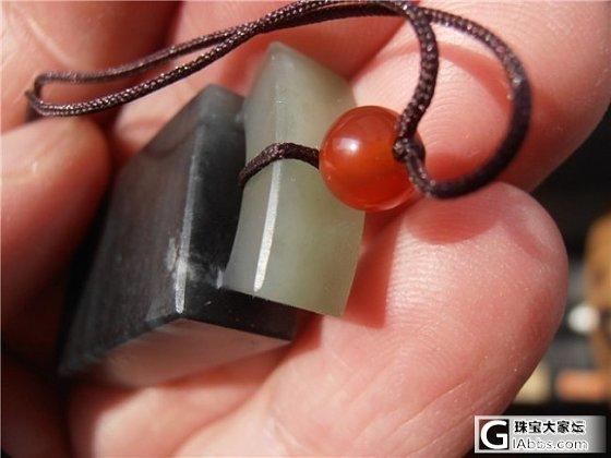 【家有和田】和田玉墨玉籽料平安牌2600  籽料龙凤吊坠一对1680_传统玉石