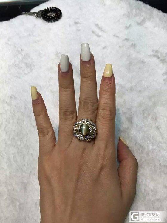 酱油刚回来,送媳妇的金绿猫眼戒指_金绿宝石猫眼戒指蛋面