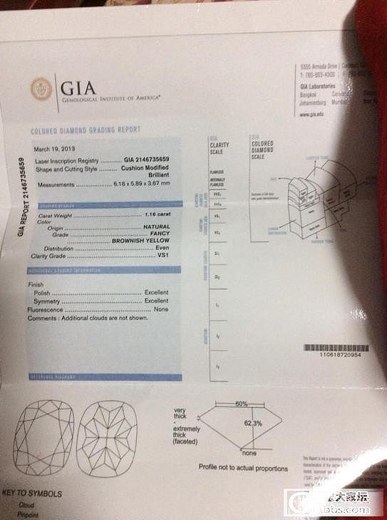 个人闲置 克拉彩钻  GIA-1.16CT黄钻 外加几条项链打包处理_钻石