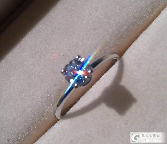 通灵专柜正品半克拉蓝色火焰钻戒_钻石