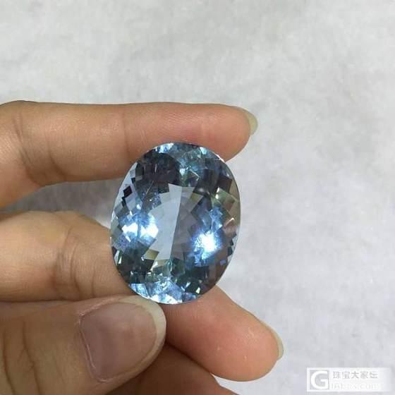 《卡缘珠宝》秀秀刚收的海蓝宝石!美到心菲~~~_珠宝