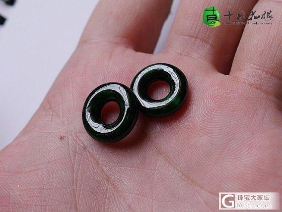 【十月】5.5新货56件-飘阳绿玉环一对,售价:1000_十月花嫁翡翠
