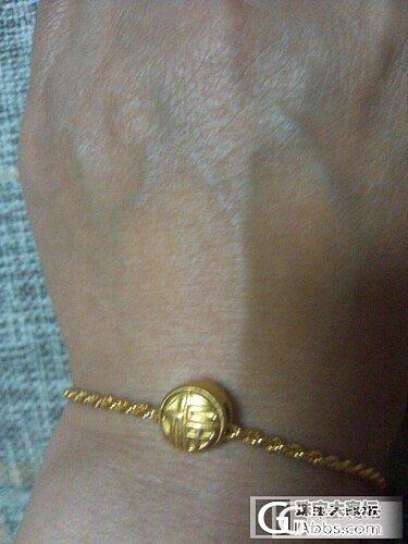 一手扭绳配喜福珠,一手新打的银镯_手镯手链金