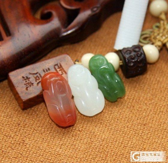 【0505和田玉】6.44克  红白绿  三不猴_传统玉石