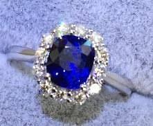 新入斯里兰卡 有烧 蓝宝。皇家蓝。终于到手了,补上手图。人生第一块小宝石_蓝宝石琳琅满目刻面宝石
