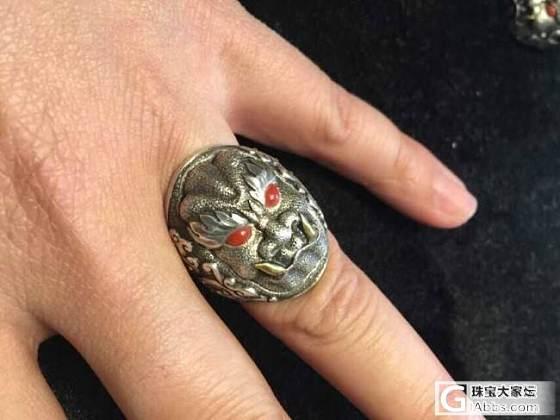 个性化银戒指