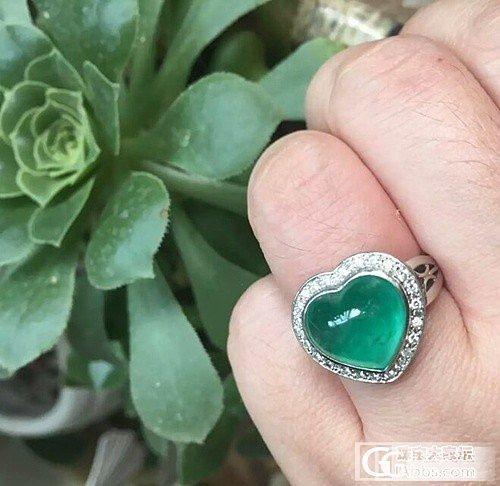 哥伦比亚祖母绿,素面大心。_戒指祖母绿