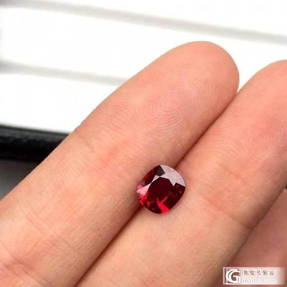推荐一颗枕形鸽血红_红宝石刻面宝石