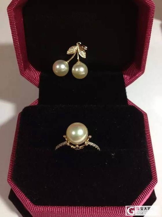 去苏州买的阿古屋珍珠戒指和吊坠,分享_戒指珍珠