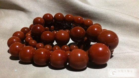 这个是不是柿子红?_南红珠串