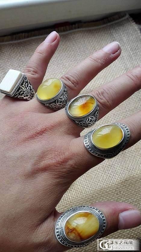 晒晒新做的戒指_蜜蜡