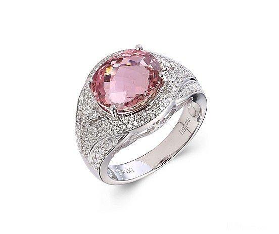 珠光宝气就是这个效果姑娘你要的效果实现了_戒指刻面宝石碧玺