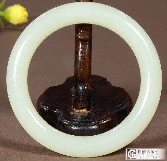 大刀转一个和田玉的手镯57.4mm_传统玉石