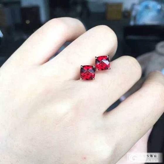 天然紫水晶 黄水晶 石榴石 耳钉925银_美玉禅心珠宝