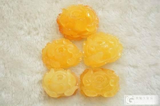 蜜蜡牡丹花,鸡油黄纯天然无优化_有机宝石