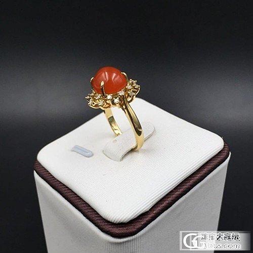 南红戒指     超美的    个性烟花状戒指
