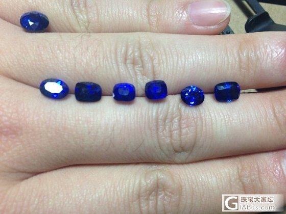 新入了一批1克拉左右的皇家蓝,都是兰卡产的。_蓝宝石