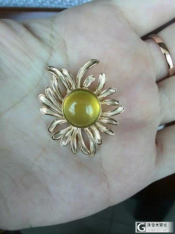 一朵美丽的太阳花_挂件葡萄石