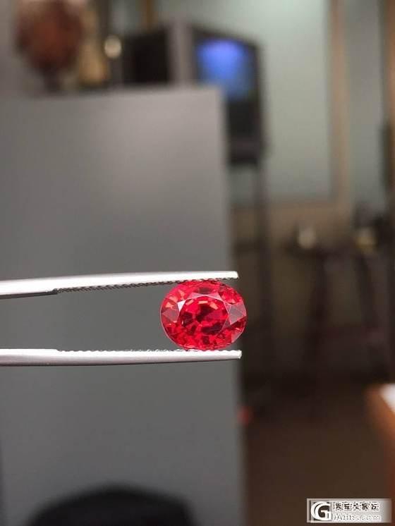 缅甸精品尖晶,十倍放大镜下干干净净,玻璃体,颜色惊艳,GRS证书,收藏精品!_缅甸尖晶石刻面宝石
